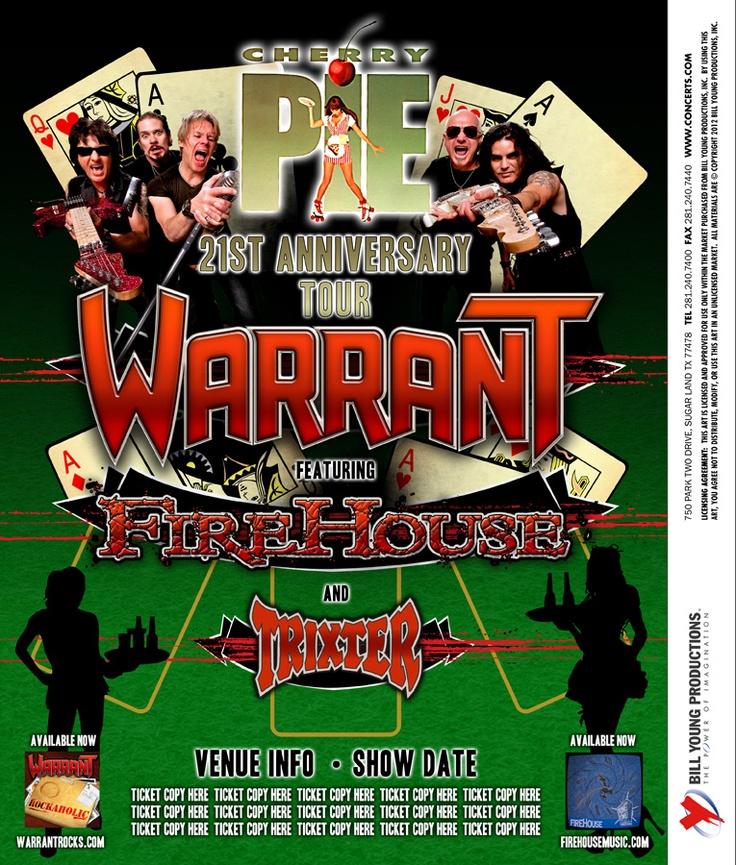 104 best warrant on tour images on pinterest band posters concerts and festivals. Black Bedroom Furniture Sets. Home Design Ideas