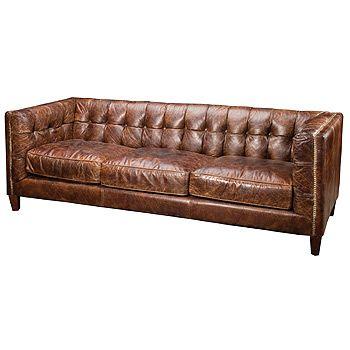 Ledersofa braun antik  Die besten 25+ Distressed leather sofa Ideen auf Pinterest ...