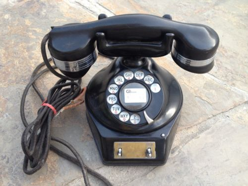 Automatic-Electric-Monophone-2-line-Hold-Button-Rotary-Antique-Vintage-Telephone