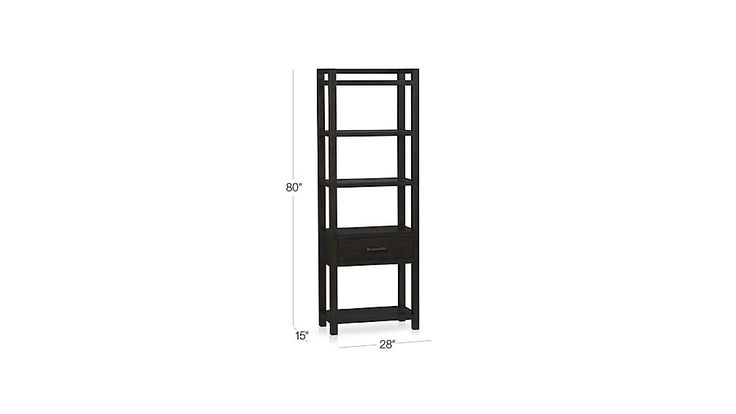 Moore Media Tower in TV Stands & Media Consoles | Crate and Barrel