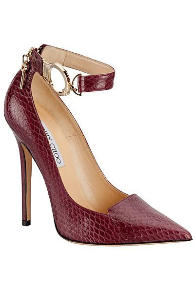 Jimmy Choo Catwalk classy Pump with gold ankle strap buckle 2013 Fall Winter #Choos #Shoes