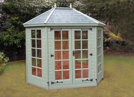 Circle Wood summer house   Octagonal Summer House 8x6   eBay