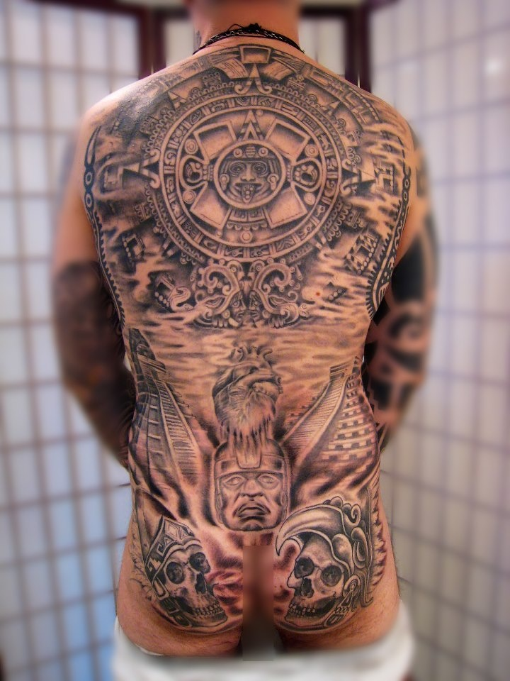 cool mayan tattoo by kris smith pinterest mayan tattoos tattoo and tatting. Black Bedroom Furniture Sets. Home Design Ideas
