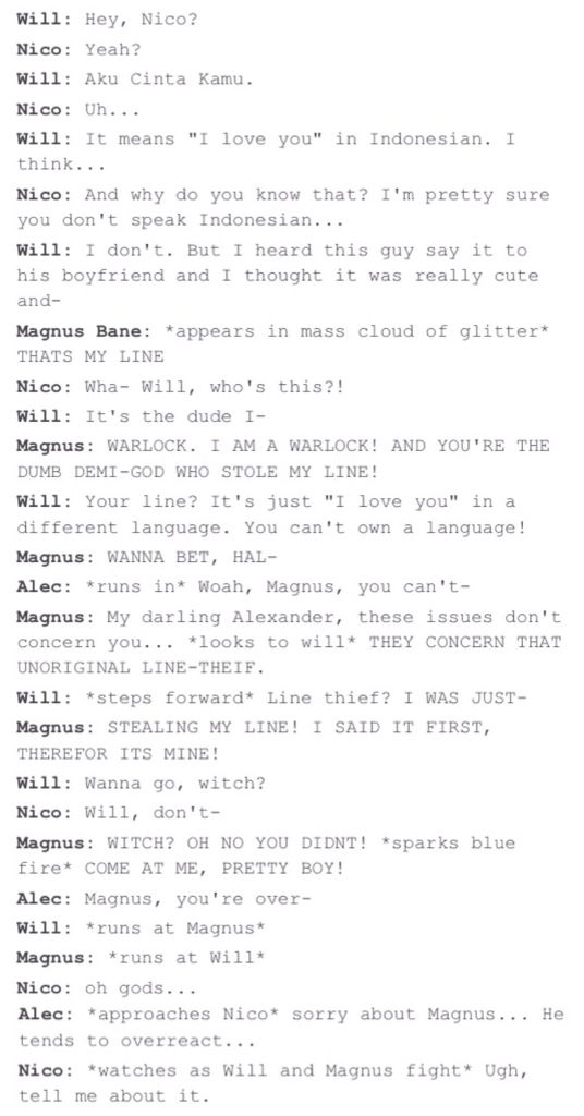 Malec and Solangelo THE BEST CROSSOVER IVE EVER SEEN <<< I think I've just read something fabulous =D