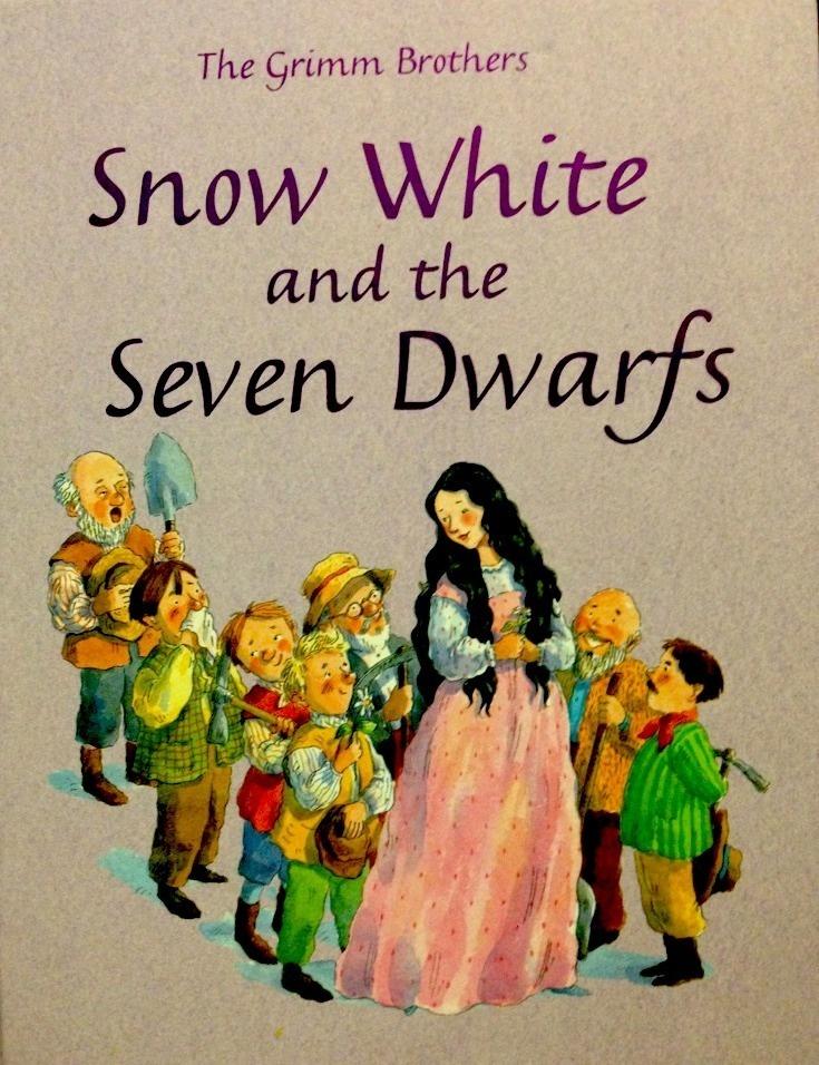 Snow White Book Cover ~ Snow white and the seven dwarfs book cover in