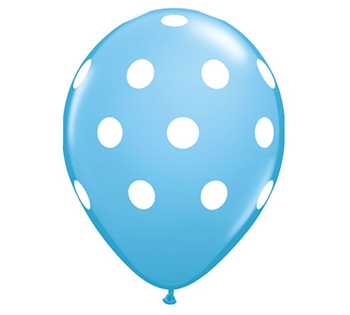New Big Polka Dots Balloon in pale blue! #burtonandburton #genderreveal