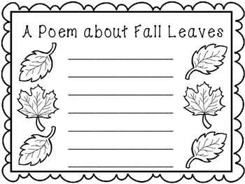 Encourage creative writing with these Fall Writing Papers. 10 prompts included.