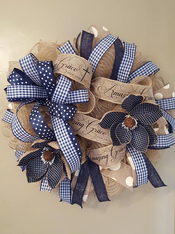 Amazing Grace Wreath Navy Blue Wreath Amazing Grace With Images
