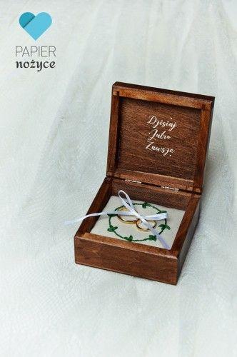 """""""Forever in love"""" - Pudełko na obrączki"""