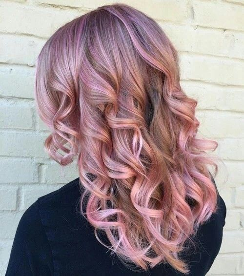 Blonde and rose gold