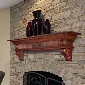 how to build a wood mantel shelf