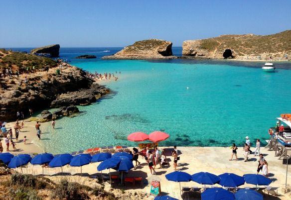 Blaue Lagune in Malta bei Comino