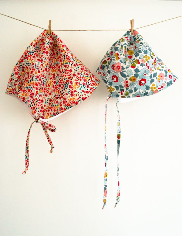 DIY Sunbonnet. Tutorial. Baby Hat.