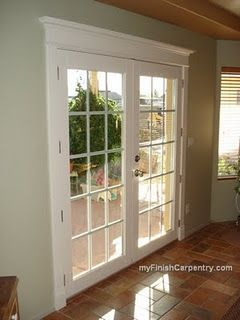 Door and Window Toppers | doovcv toppers on French doors adds visual appeal | Bayer Built Woodworks