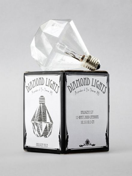 """Diamond halogen light by Swedish designer Eric Therner"" ... From the little picture I thought it was a really cool tissue box haha"