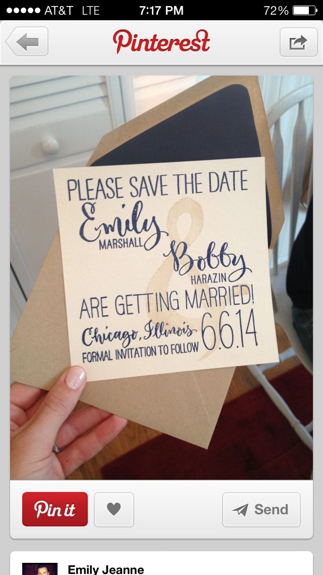 electronic save the date card