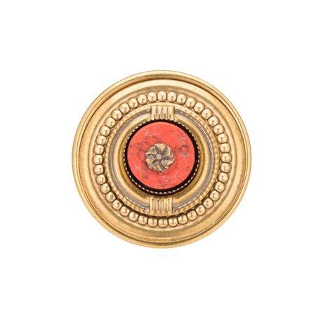 Coralesque Ring Bohemian Coral Ring, Vintage Coral Ring, Adjustable Gemstone Ring, Handmade Coral Ring, Coral Brass Ring, Handmade Coral Brass Ring, Adjustable Coral Ring, Fashion Coral Ring