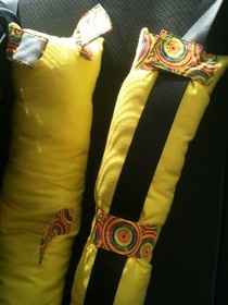 Seat Belt Pillow... i could use one of these for me.  :) like the colors