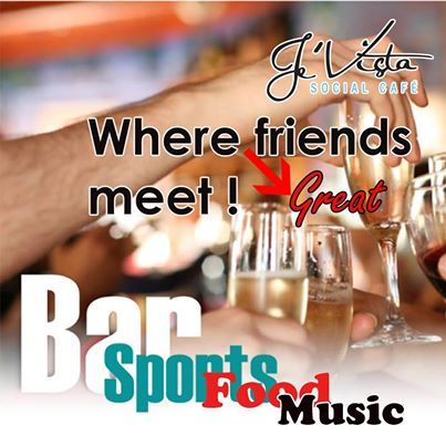 Je'Vista Social Café Jeffrey's Bay is the place where friends meet to enjoy the fabulous atmosphere and the great entertainment. Alcohol not served to persons under 18, drink responsibly. #socialcafe #entertainment #venue