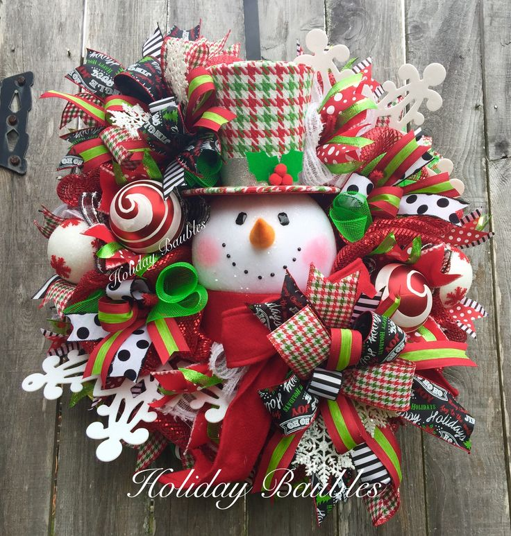Houndstooth Snowman by Holiday Baubles