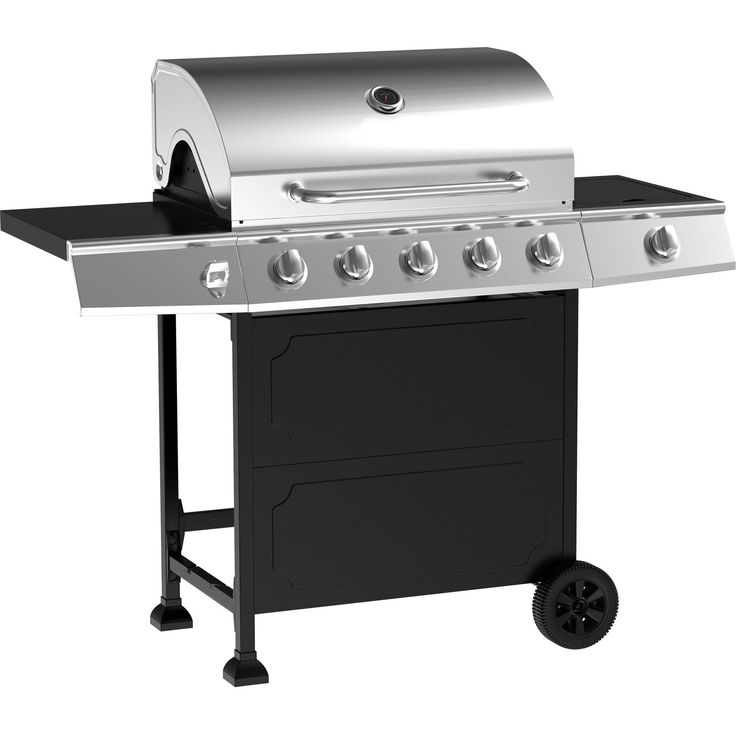 5 burner stainless steel gas barbeque