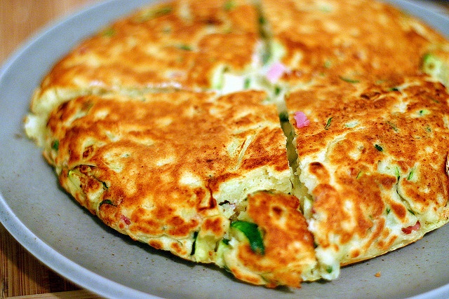 zucchini, ham and ricotta fritters | cooking | Pinterest