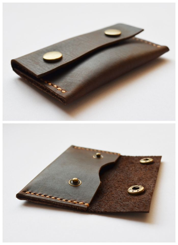 Handmade Genuine Leather Mini Wallet /Money Id Credit Cards Holder Case Compact Retro (VM116) from Senger Leather Bag