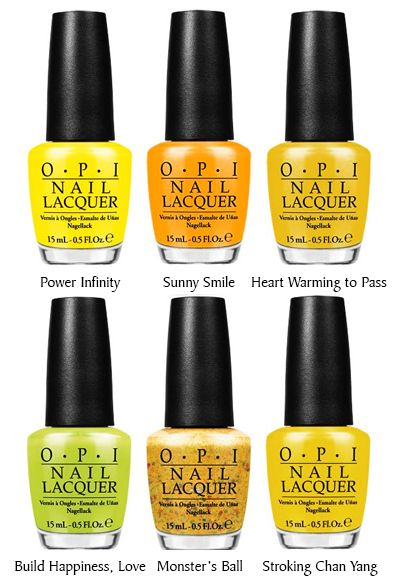 Image result for yellow nail polish names