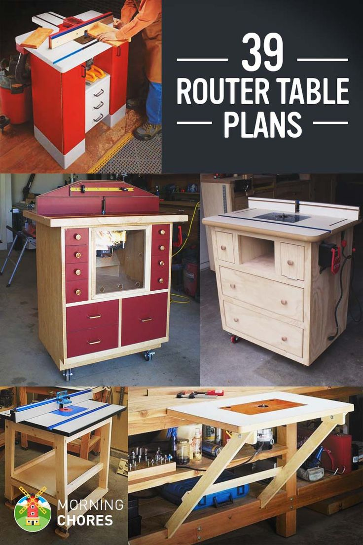 39 Free DIY Router Table Plans & Ideas That You Can Easily Build                                                                                                                                                                                 More