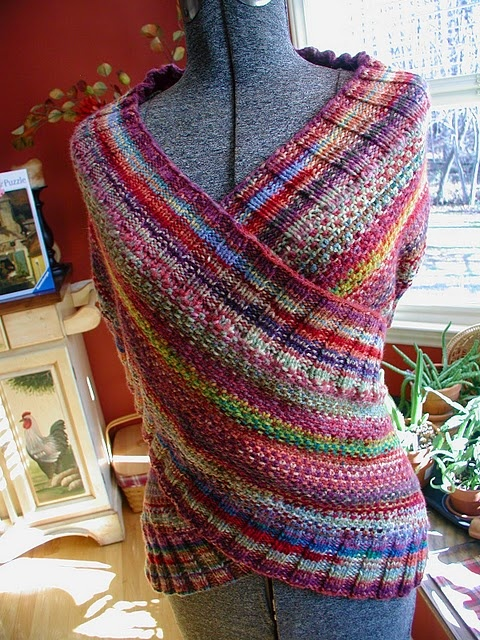 Knitting Patterns For Wraps : 25+ Best Ideas about Knit Wrap on Pinterest Knit wrap pattern, Easy knittin...