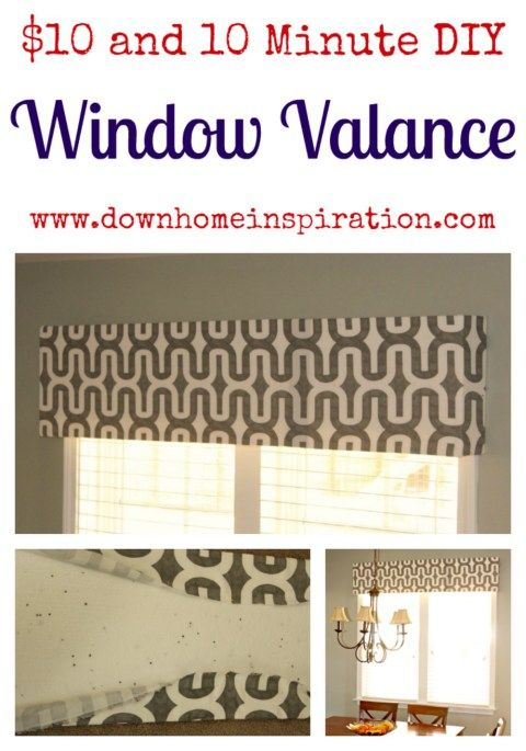 $10 and 10 Minute DIY Window Valance