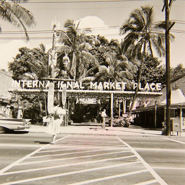 Waikiki's International Market Place 1958.  So sad that they've torn it down on New Year's Day 2014.  :-(