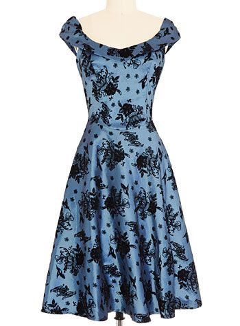 Birds & Blooms Flocked Party Dress $84.00 at ShopPlasticland.com
