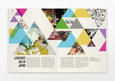 Design Triangles Graphics Design Layout Design Yearbooks Ideas Design