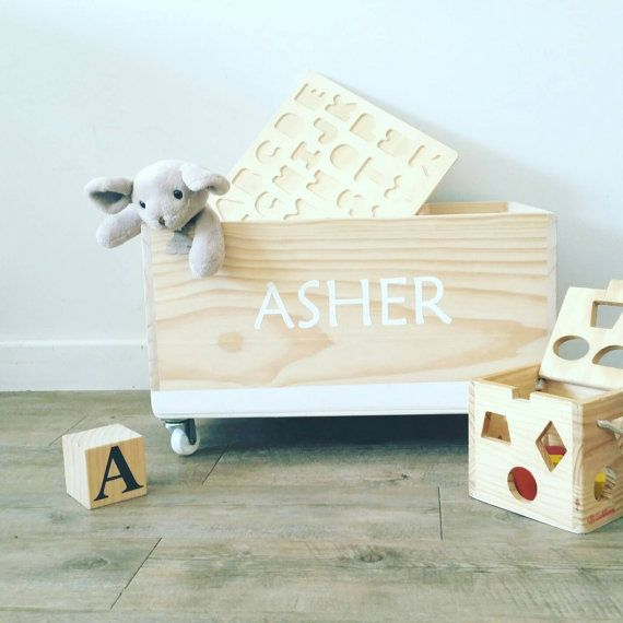 Bespoke Toy Box Personalised with Name and custom by LePetitCadre & 25+ de idei unice despre Personalised wooden toy box pe Pinterest Aboutintivar.Com