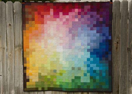 37. Pixelated Colorwheel