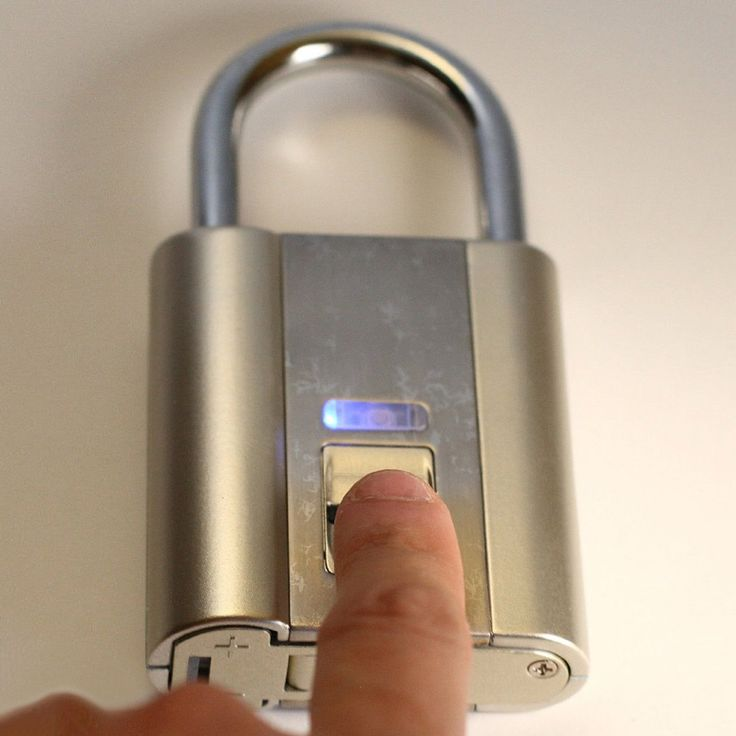 Rather than using keys or spinning a frustrating dial of numbers to unlock this futuristic padlock, just slide your finger over it instead. Voila!