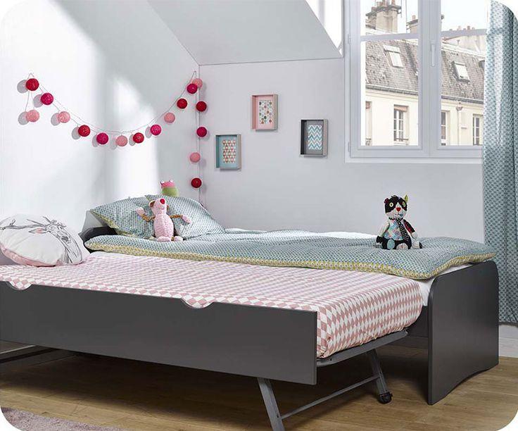 das ausziehbett twist anthrazit grau wurde mit einer kologischen farbe auf wasserbasis lackiert ohne voc und lsungsmittel und ist somit absolut - Modernes Tagesbett Mit Ausziehbett