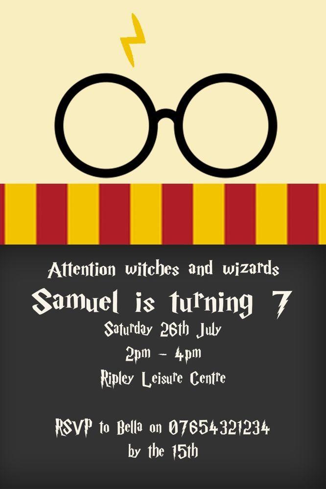 Personalised Harry Potter Birthday Party Invitation Inc Envelopes Hp1 Ebay Invitaciones De Harry Potter Cumpleanos Harry Potter Tarjetas De Invitacion