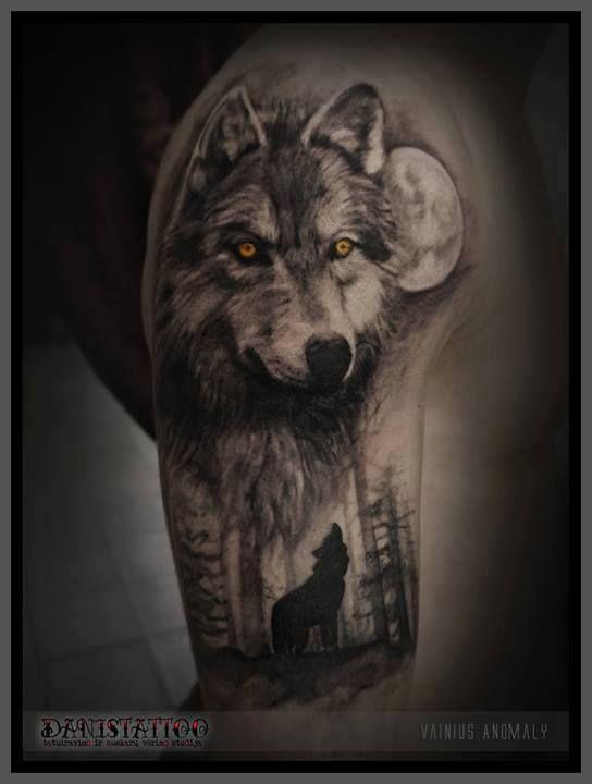 Sick Wolf Tattoo by Vainius Anomaly