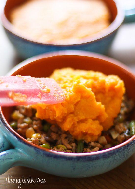 Sweet Potato Turkey Shepards Pie | Skinnytaste