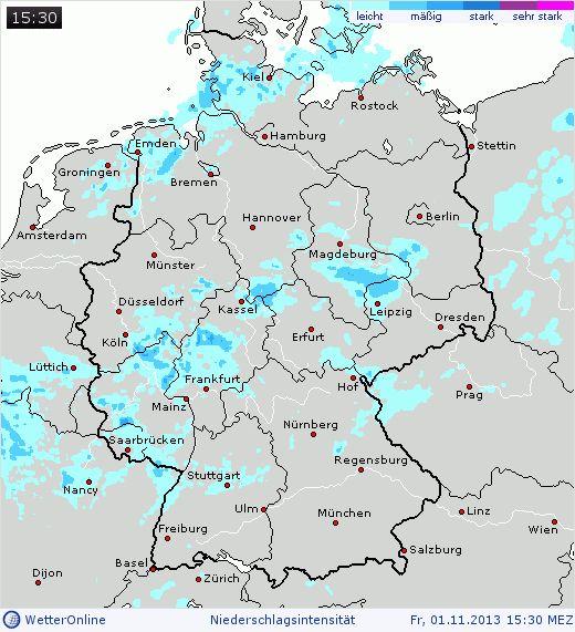 Aktuelles Regenradar Bild Deutschland
