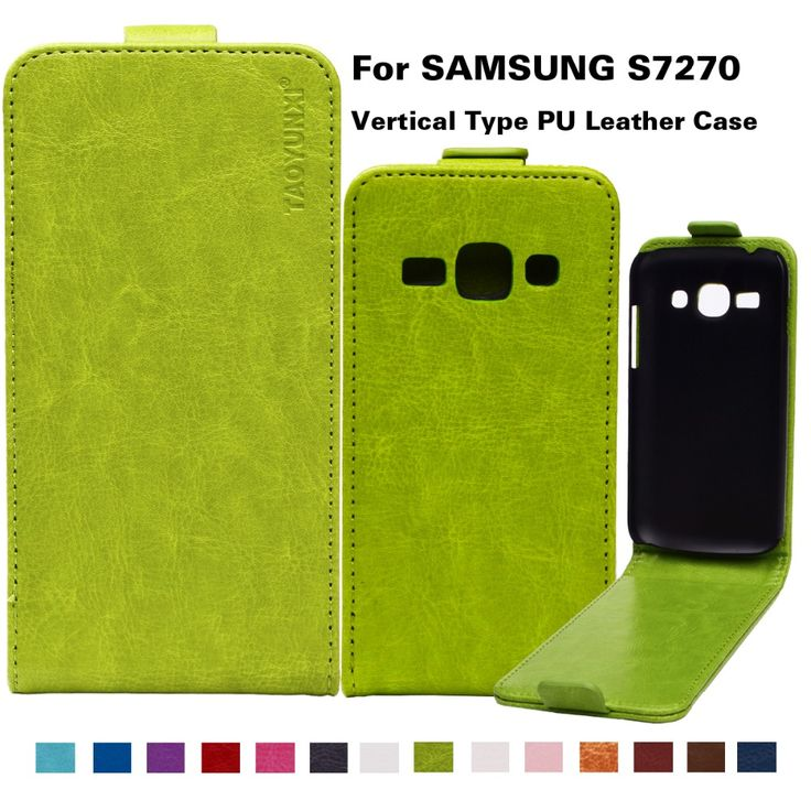 "Business Style Case For Samsung Galaxy ACE3 Ace 3 III S7270 S7272 S7275 S7278 4.0"" PU Leather Flip Case Cover 14Colors Available"