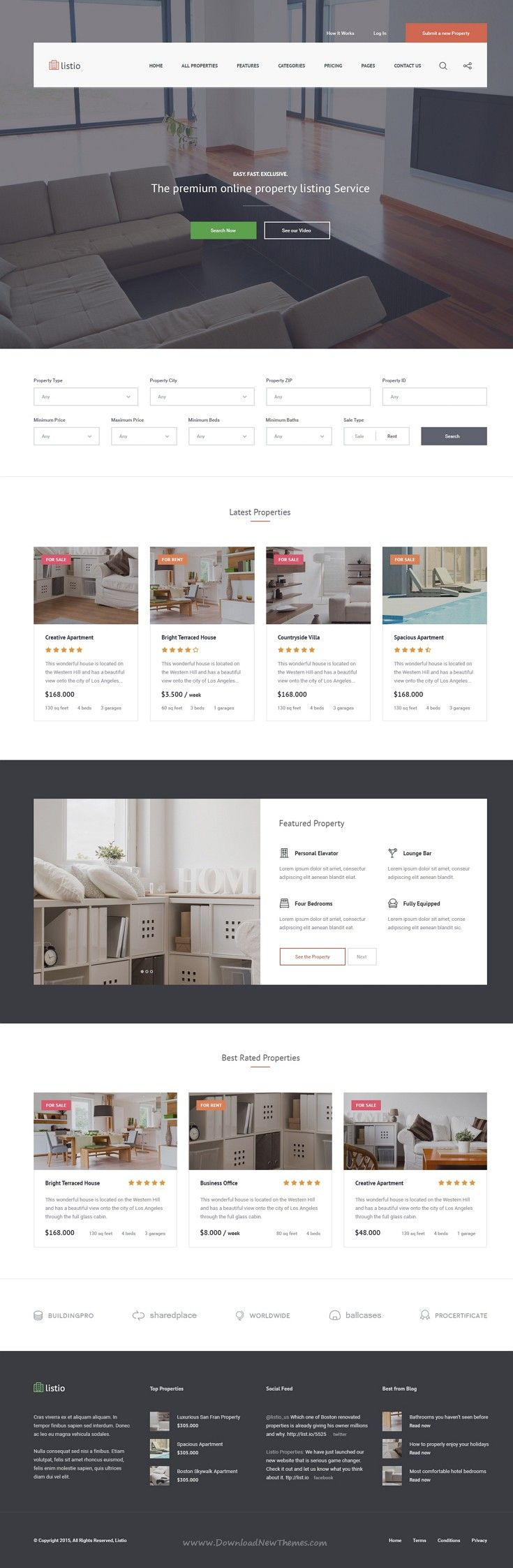 Real Estate Template%0A Listio is a perfect  PSD Template for real estate businesses excellent   website