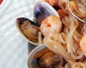 Nouilles aux fruits de mer