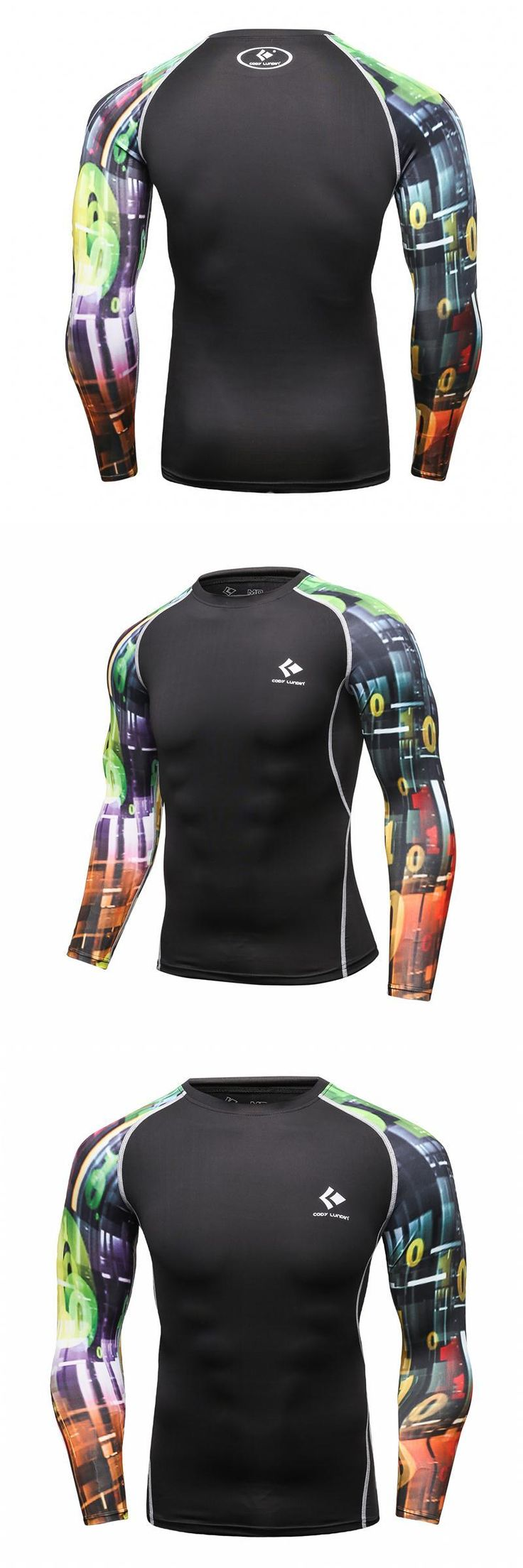 2017 Fashion T Shirt for Male Bodybuilding Base Layers Tights MMA Clothing Quick Dry Compression Shirt 3D Prints Crossfit