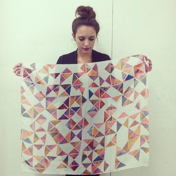 disperse dye print by Chante Gossett