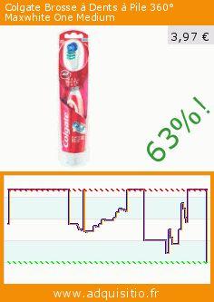 Colgate Brosse à Dents à Pile 360° Maxwhite One Medium (Beauté et hygiène). Réduction de 63%! Prix actuel 3,97 €, l'ancien prix était de 10,70 €. https://www.adquisitio.fr/colgate/brosse-dents-pile-360%C2%B0