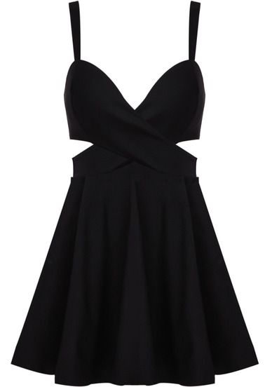 Black Cut Out Detail Dress