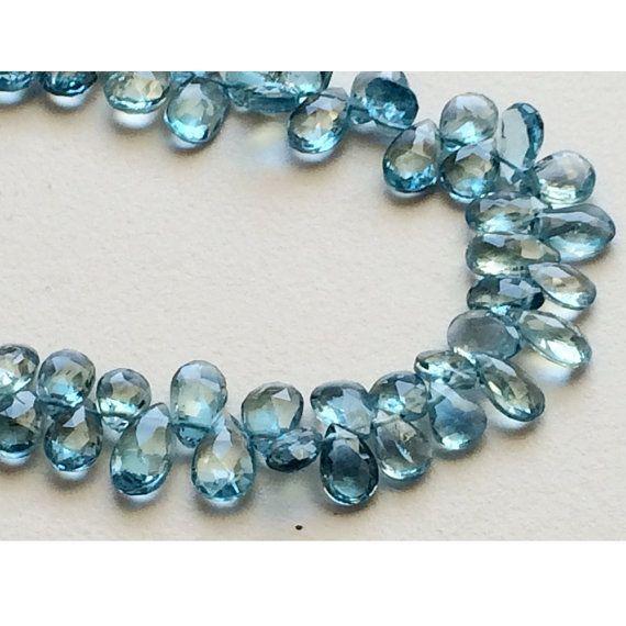 London Blue Topaz Blue Topaz Beads Original Blue by gemsforjewels